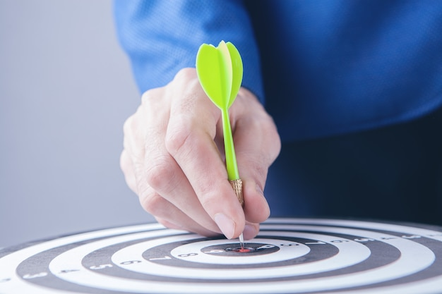 Arrow dart on the target