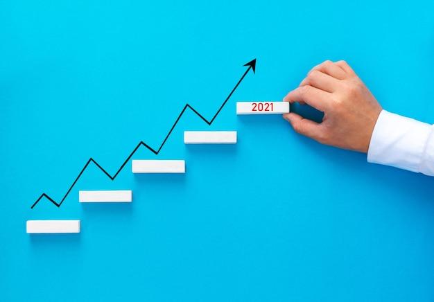 Стрелочный график с увеличением бизнеса