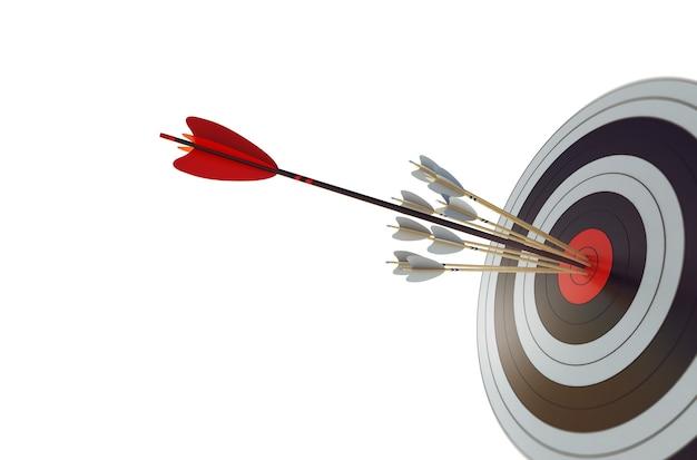 Arrow hit the center of target