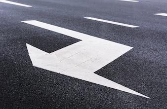Arrow indicating lane change