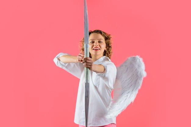 バレンタインデーの愛のキューピッドの矢バレンタインデーキューピッドキューピッド天使弓と矢のバレンタイン
