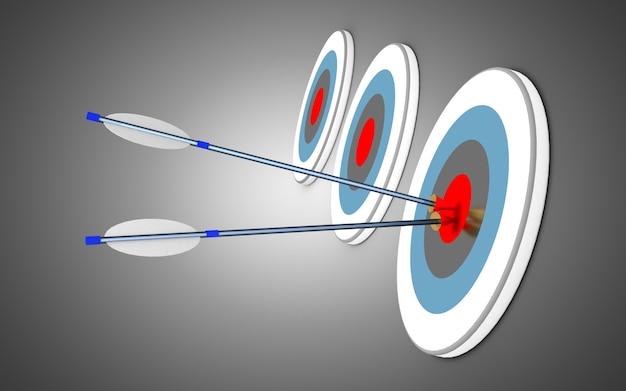 Стрелки и цель. бизнес-концепция успеха