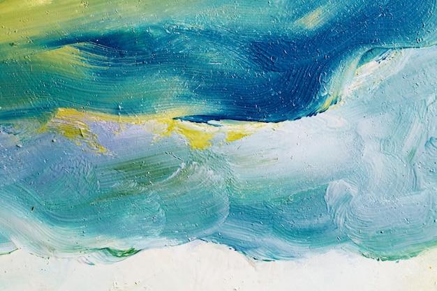 Искусство абстрактные акриловые мазки на фоне холста.