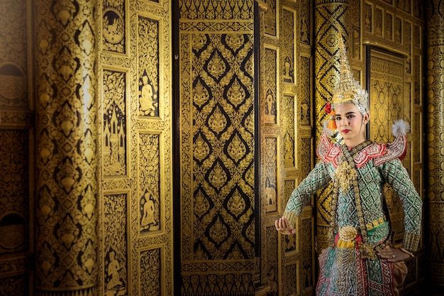 アートカルチャータイマスクされたコンベンジャカジとハヌマーンで踊る文学amayana、タイの文化コン、タイ