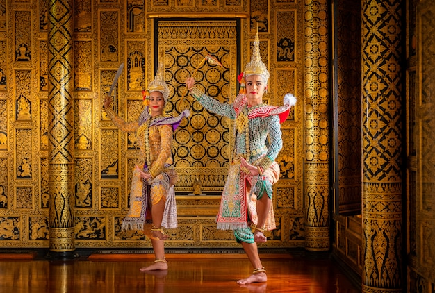 Art culture thailand dancing in masked khon in literature ramayana,thai classical
