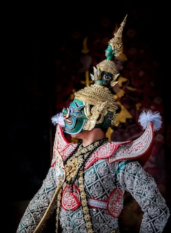 Art culture thailand dancing in masked khon in literature ramayana