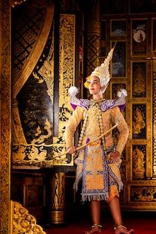 Art culture thailand dancing in masked khon in literature ramayana