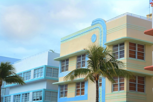 Art deco buildings in miami, florida