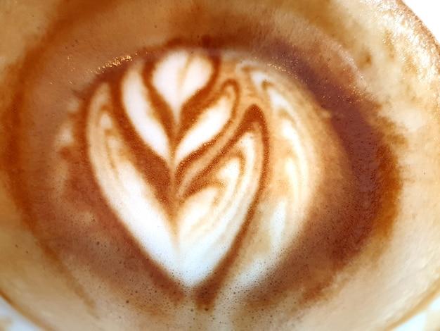 아트 라떼 커피 배경 또는 질감