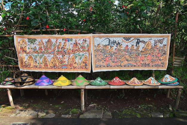 The art in pura besakih temple on bali island, indonesia