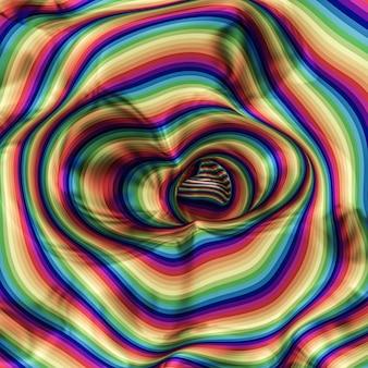Искусство вихрем радуга всплеск цвет абстрактный.
