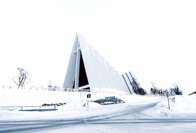 Arthic cathedral in tromso, norway