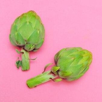 아티초크 식물 최소 비건 디자인 아트