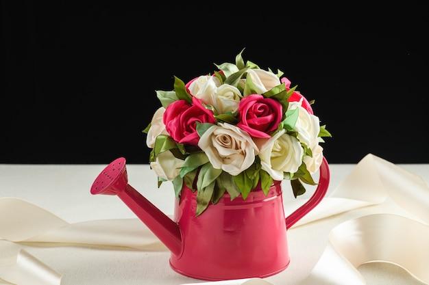人工装飾花。結婚式の装飾。