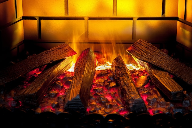 Artificial electronic fireplace