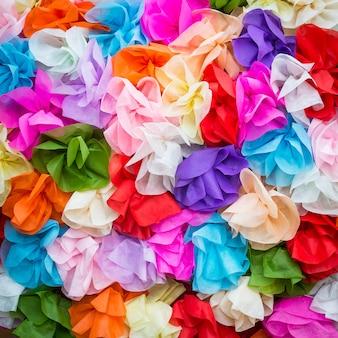 Artificial flower background
