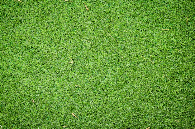 Artificial green grass texture with vintage filter