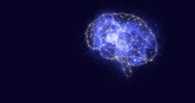 人工知能ai。デジタル脳人工知能。サイバーブレインの現代的な概念。 ai、機械学習。