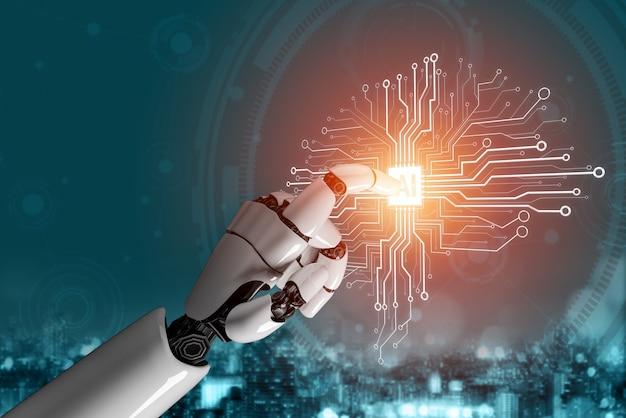 로봇 및 사이보그 개발의 인공 지능 ai 연구