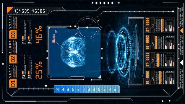 Artificial intelligence concept brain over circuit board