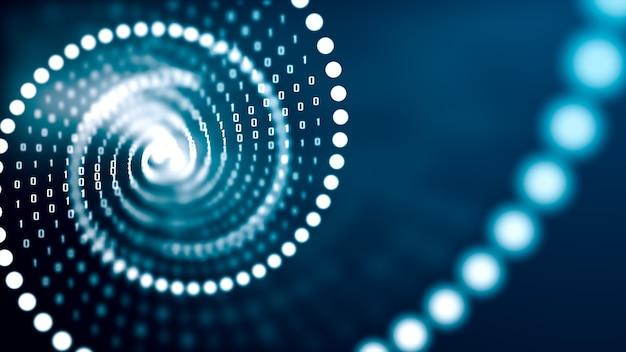 Artificial intelligence dna molecule concept.