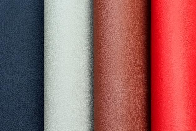 Искусственная кожа различных оттенков цветов