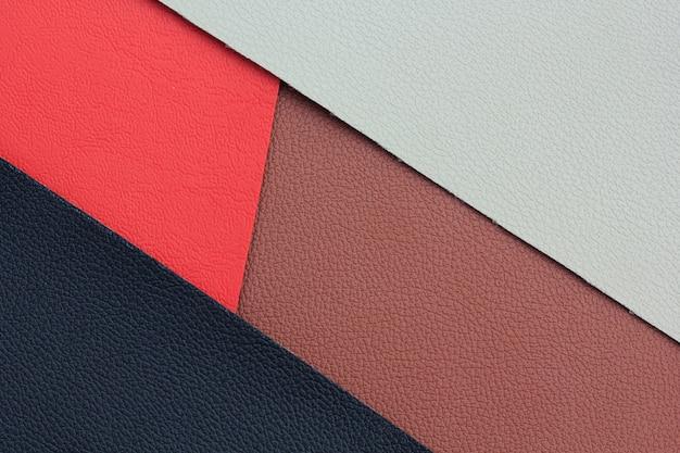 色の人工皮革のさまざまな色合い