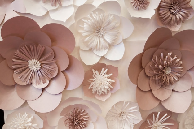 Artificial paper flowers made by hand, beautiful decor