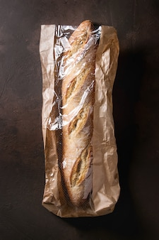 Artisan baguette bread