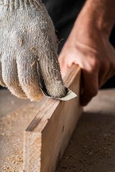 職人の仕事の要素の構成のクローズアップ