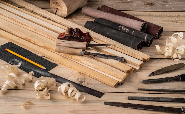 Artisan jobs tools composition