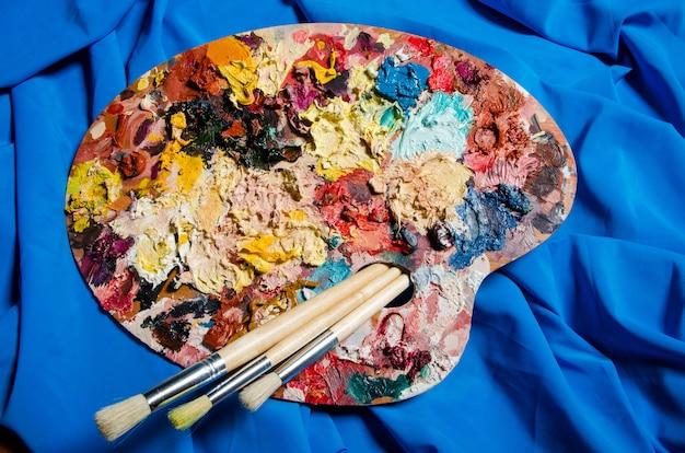 Artist palette in art concept