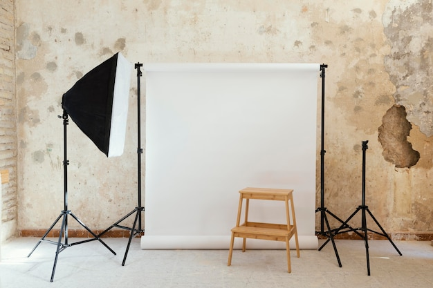 Artist props for photography in studio