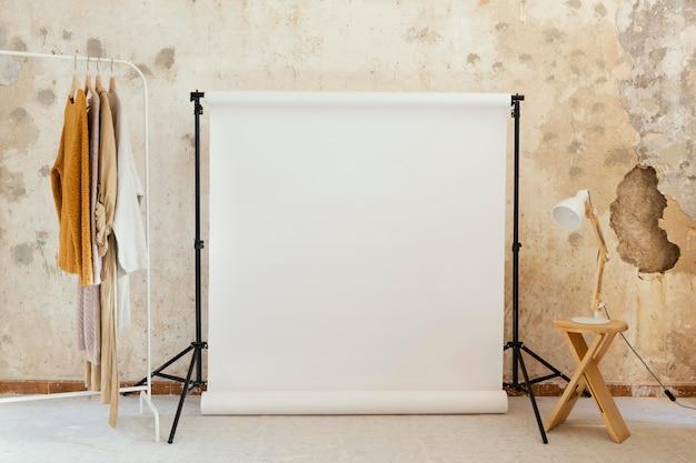 Oggetti di scena dell'artista per la fotografia in studio
