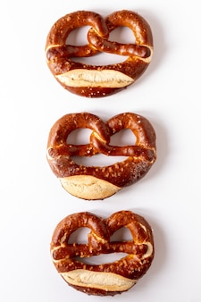 Artistic arrangement of bagels with seeds