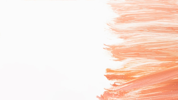 Artistic colorful brush strokes of paint
