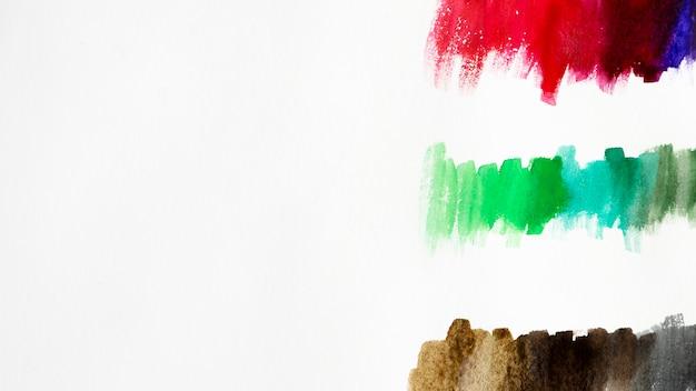 Artistic colorful watercolor brush strokes