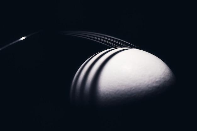 芸術的な卵白フォーク