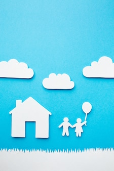 Artistic paper family concept