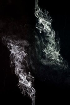 An artistic white smoke abstract as background
