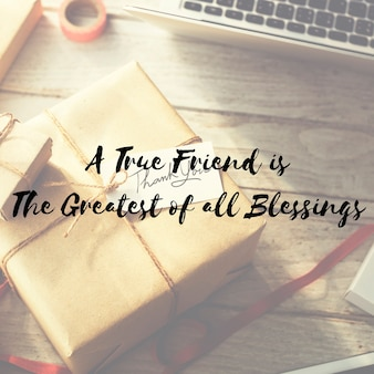 Regalo di arti e mestieri regalo condivisione congratulazioni concept