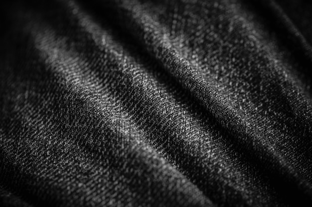 Arts of textile cloth denim wave high detail texture monotone for background.