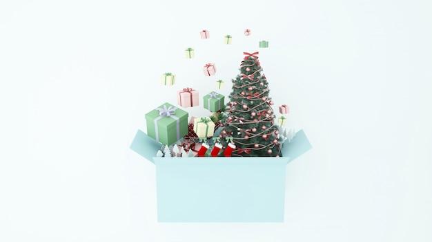 Artwork christmas 3d rendering