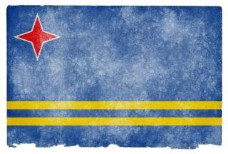 Aruba grunge flag  image