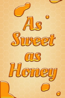 Сладкая, как мед, цитата с тиснением