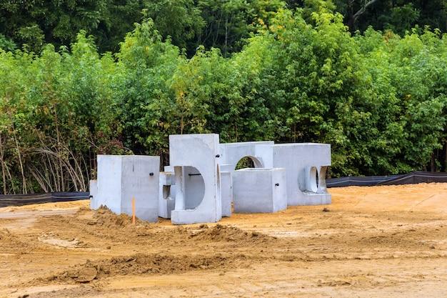 다양한 크기의 석면-시멘트 파이프 직경 하수 시스템용, 콘크리트 제품 건설용 엔지니어링 작업 우물