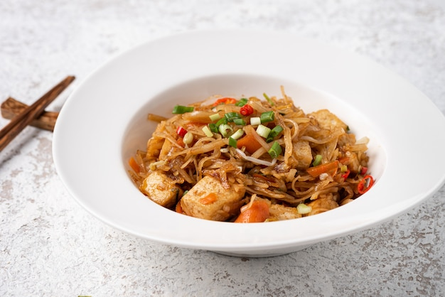 Asia noodle with vegetable food