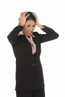 Asian business woman stress