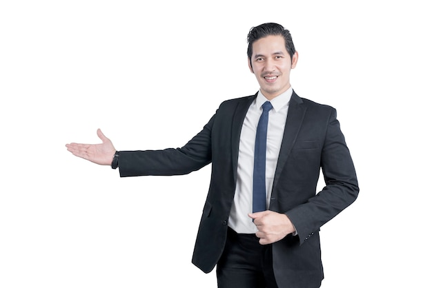 Asian businessman with hand gesture
