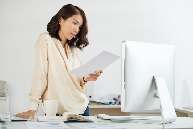 Asian businesswoman busy working